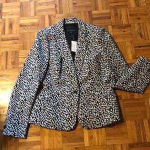 Banana Republic black & white blazer sz12